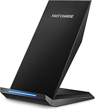 Pasonomi Qi Fast Wireless Charging Stand For iPhone X, Samsung Galaxy S8, and StandardCharge