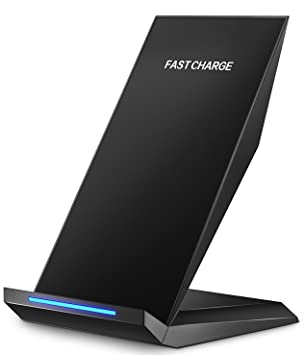 Pasonomi Cargador Inalámbrica de Carga Rápida, Inalámbrica Qi Cargador Wirless para Samsung Galaxy S7/ S7 Edge/ S8 / S8 Plus /S6 Edge Plus, Nokia ...