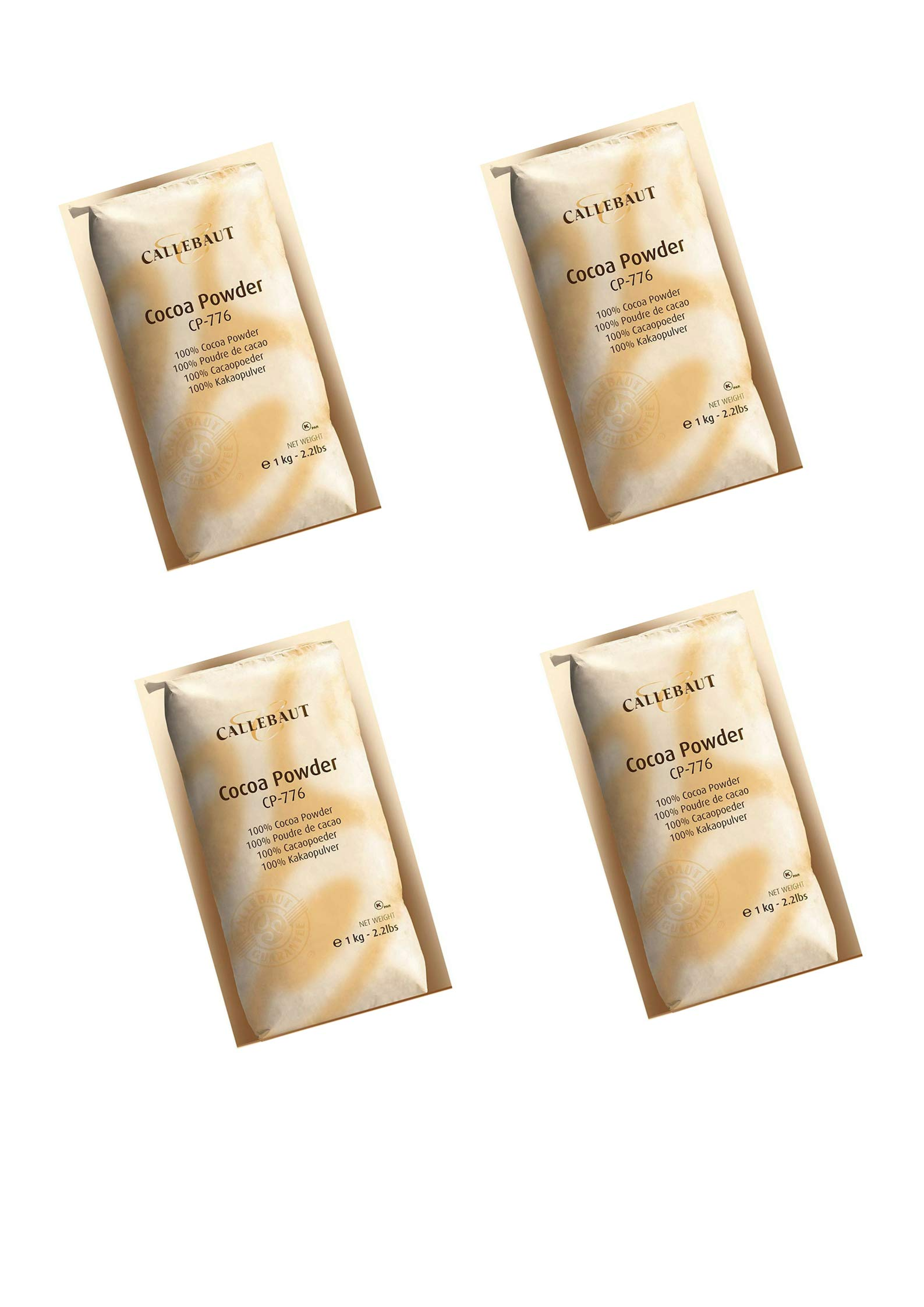 Callebaut Baking Cocoa Powder 2.2lb. bag in Cook's Illustrated (4pack)