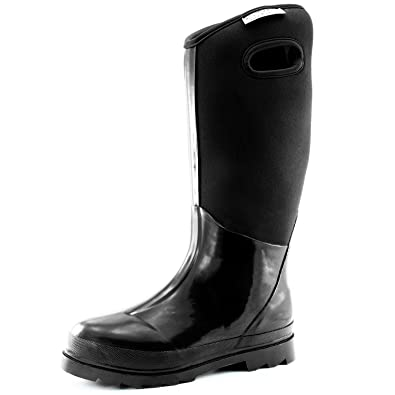 6ee7f02257156 Women s Classic High Ultra Soft Neoprene Waterproof Rubber Rainboot Mid  Calf Warm Winter Snow Boots