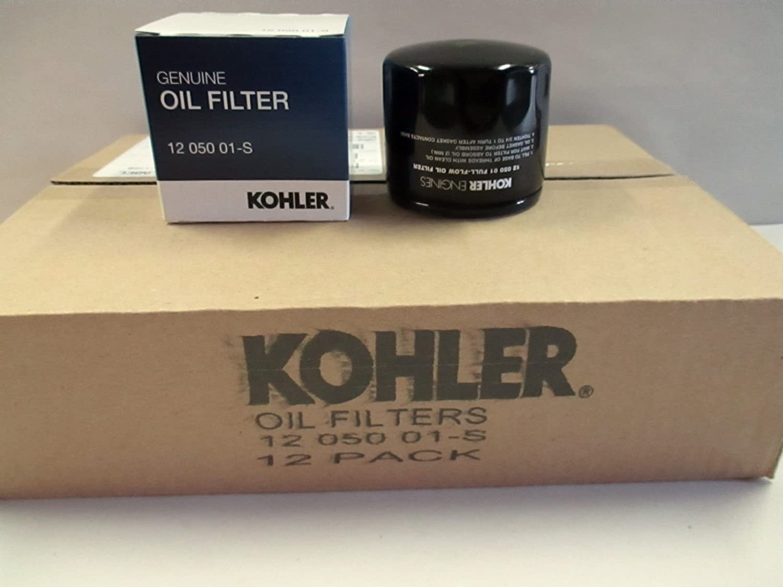 KOHLER 12 050 01-S Engine Oil Filter For CH18 - CH25 And CV18 - CV25- 12 pack
