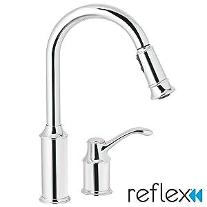 Moen 7590C Aberdeen One-Handle High Arc Pulldown Kitchen Faucet, Chrome