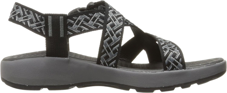 Skechers Mens Outdoor Adjustable Sandal Outdoor Adjustable Sandal Black Charcoal