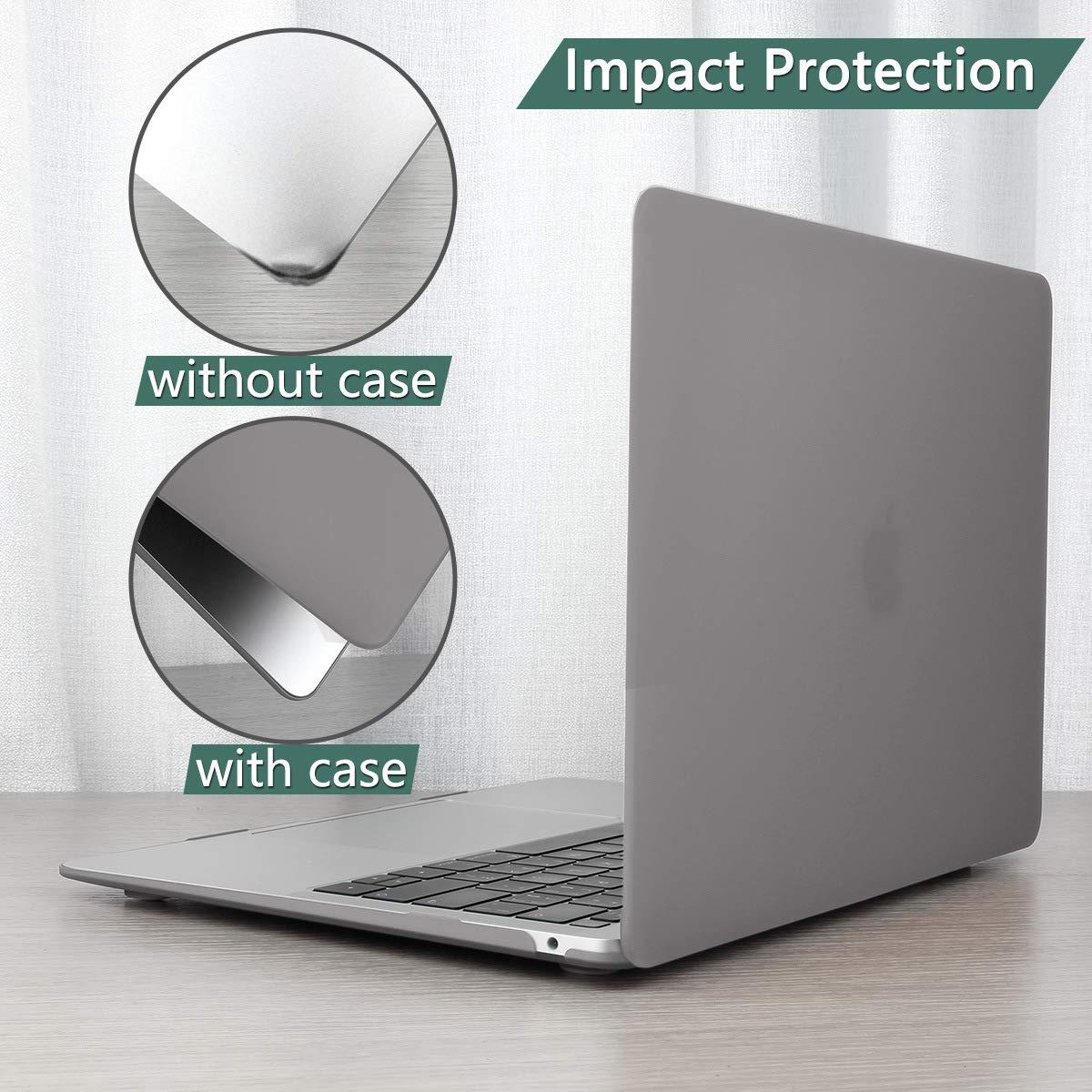 Bleu Marin Batianda Coque MacBook Pro 13 Pouces 2016 2017 4 in 1 Plastique Rigide /Étui avec Couverture de Clavier AZERTY Protecteur d/écran pour MacBook Pro 13 sans Touch Bar Mod/èle:A1708
