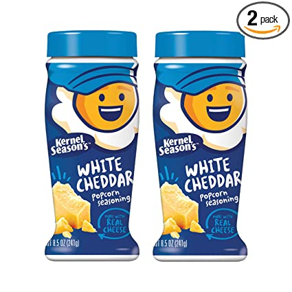 Kernel Seasons White Cheddar Seasoning, 8.5 Ounce Shakers (Pack of 2)