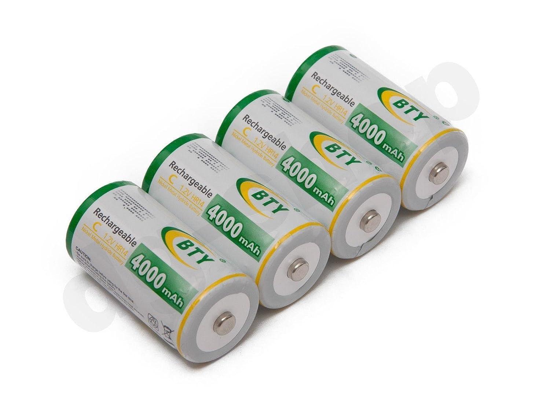 4x Wiederaufladbare Wiederaufladbar Akku Batterien Batterie Baby C HR14 4000 mAh
