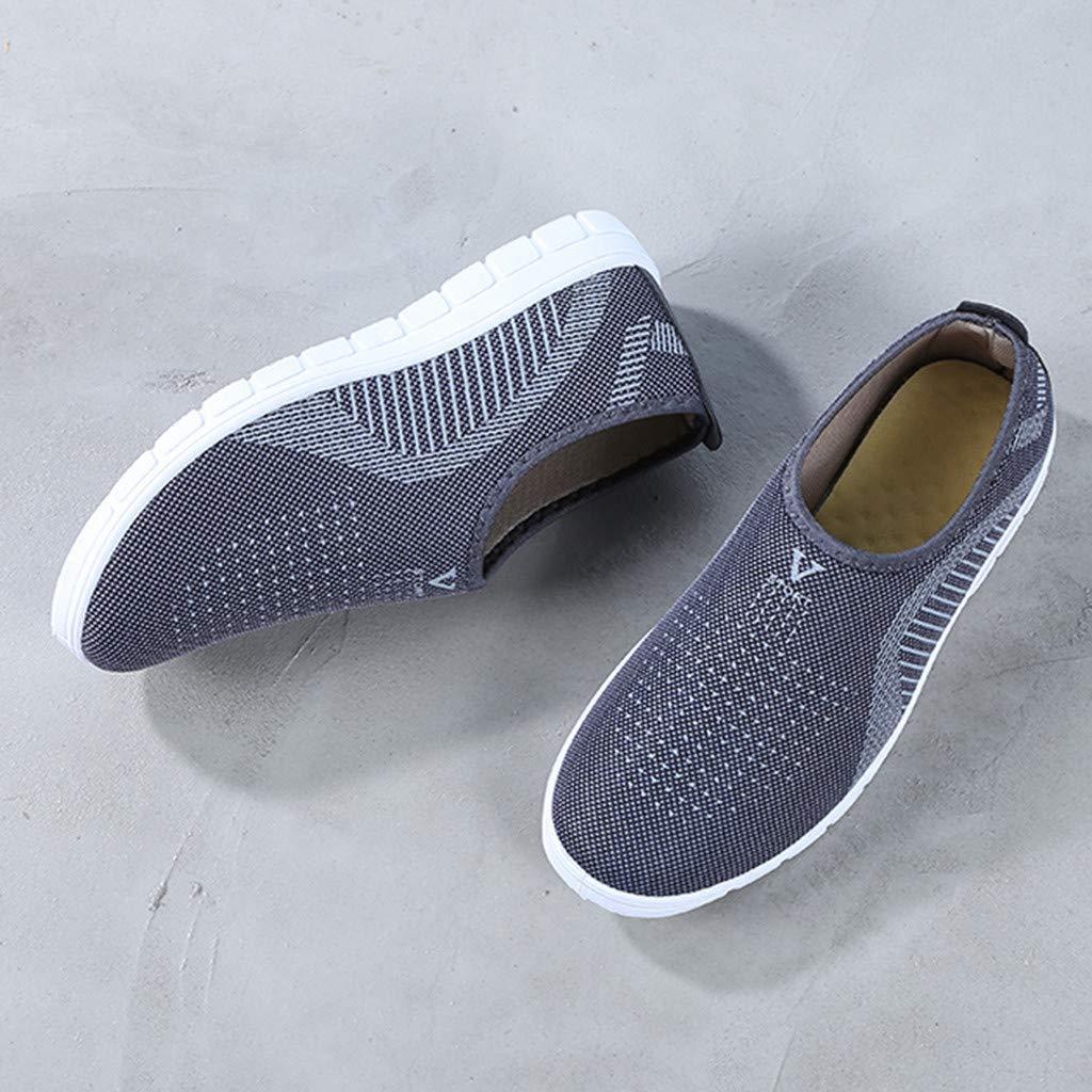 kaifongfu Men's Footwears Shoes Slip-On Sport Shoes Sneaker Comfortable Shoes(Gray,39) by kaifongfu (Image #5)