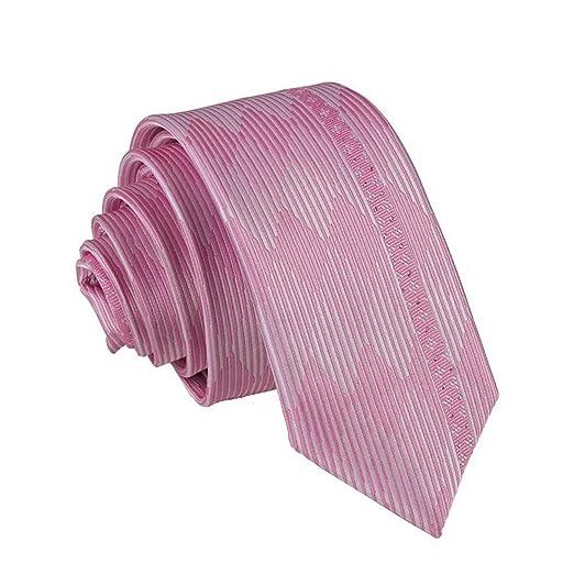 Yingsssq 5.5 cm Raya Rosa Corbata Delgada Arte clásico diseño ...