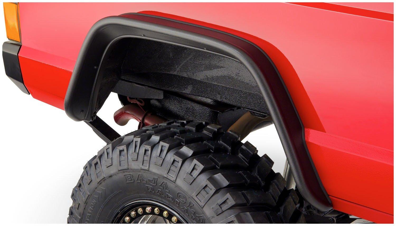 Rear Pair Bushwacker 10064-07 Jeep Flat Style Fender Flare