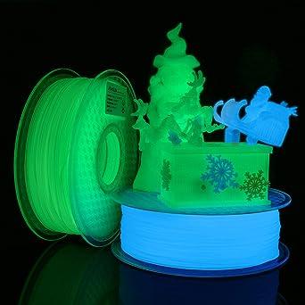 Dimensional Accuracy +//- 0.02 mm Fit FDM 3D Printer 3D Printer PLA Filament 1.75 Glow in The Dark Blue Glow in The Dark PLA Filament 1.75mm 1KG Spool