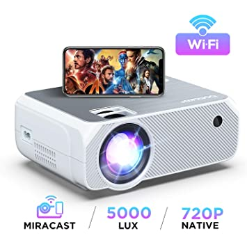 Bomaker - Mini proyector Wi-Fi (4500 lux, proyector HDMI portátil ...