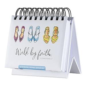 DaySpring Flip Calendar - Walk by Faith - 75618