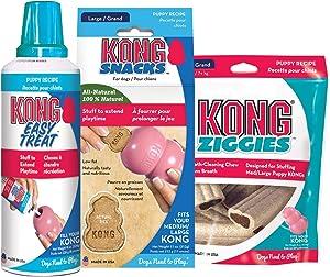 KONG - Dog Treat Combo - Easy Treat, Snacks and Ziggies - Puppy Treats for Medium/Large Puppies