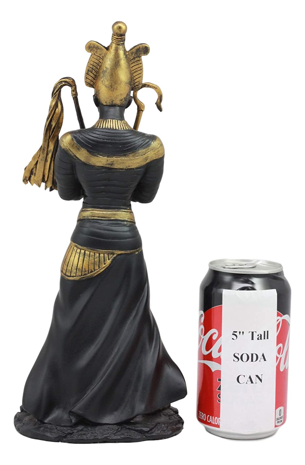 Ebros Egyptian God of The Dead Osiris Holding Crook and Flail Statue In Black And Gold Finish 11.5 Tall Ancient Mythology Decor Figurine Ebros Gift