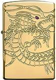 Zippo Armor Chinese Dragon Windproof Pocket Lighter - High Polish Gold Plate