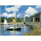 Artopweb Pannelli Decorativi Monet Bridge At Argenteuil Quadro, Legno, Multicolore, 80x1.8x60 cm