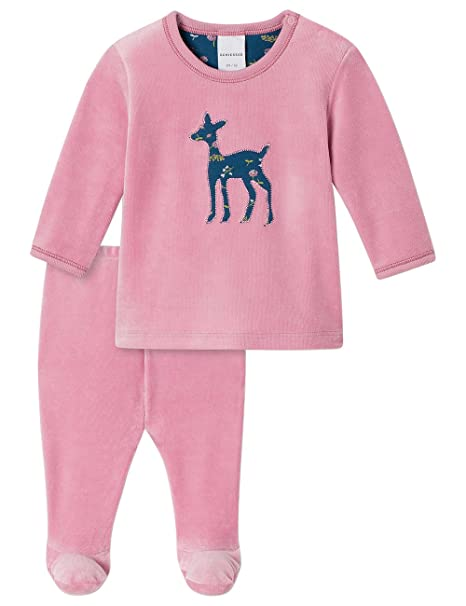 Schiesser Baby Anzug Lang 2-Teilig, Conjuntos de Pijama para Bebés, Rojo (