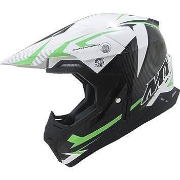 MT Synchrony Steel Motocross Helmet XXL Black White Green