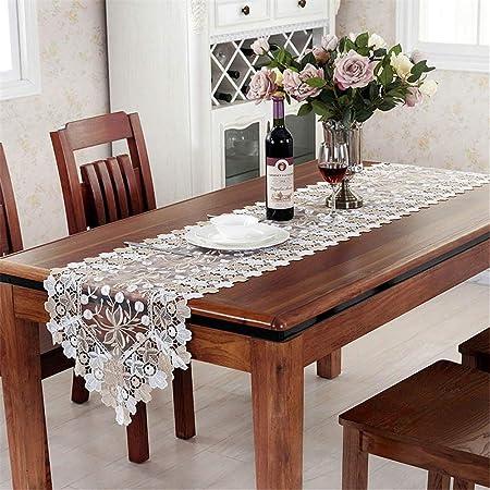 Camino de mesa moderno La tabla del cordón bordó la flor para ...