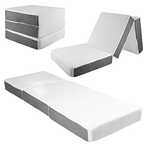 Amazon Com Samay 6 Inch Tri Folding Memory Foam Mattress Includes
