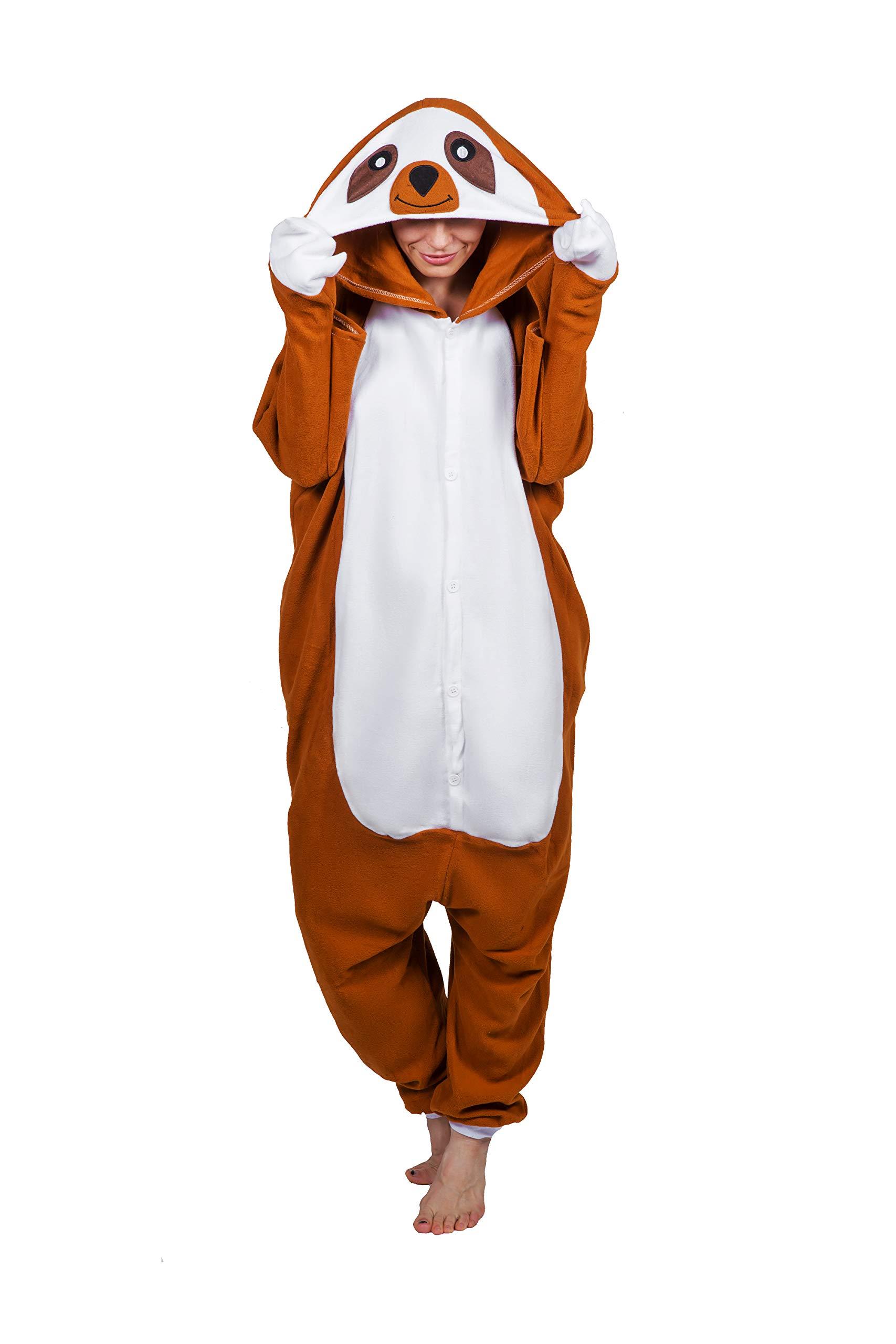 Smashing Pajamas New Sloth Unisex Adult Onesies For Women - Adult Onesie Men - Animal Onesie Adult - Christmas Onesie Adult -