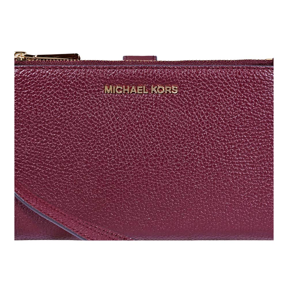 Michael Kors Addison Large Pebbled Leather Tote Oxblood