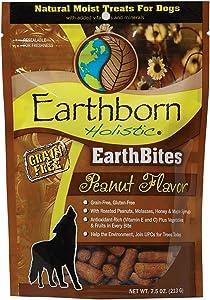 Earthborn Holistic EarthBites Peanut Flavor Grain-Free Moist Treats for Dogs, 7.5 Ounce Bag B00NRB3MNQ