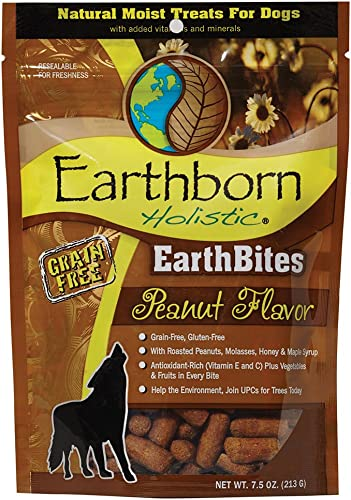 Earthborn Holistic EarthBites Peanut Flavor Grain-Free Moist Treats for Dogs