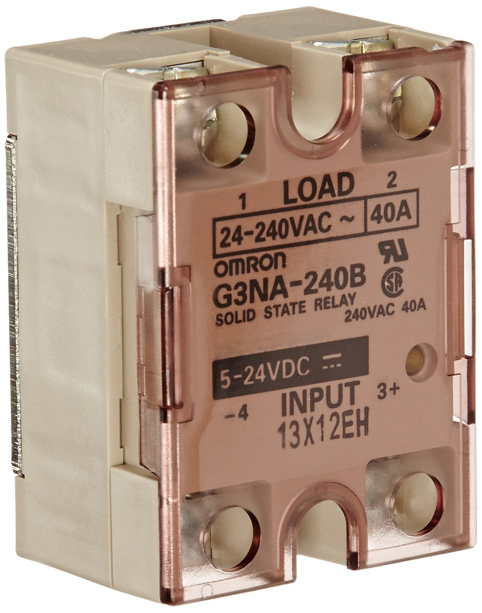 Zero Cross Function 5 to 24 VDC Input Voltage Indicator Omron G3PA-240B-VD DC5-24 Solid State Relay 40 A Rated Load Current 24 to 240 VAC Rated Load Voltage Phototriac Coupler Isolation