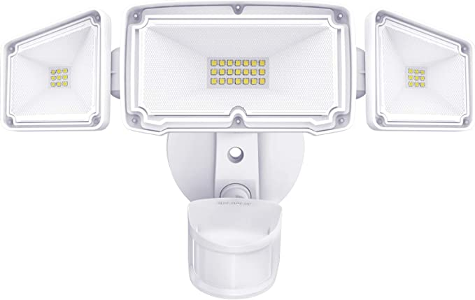 IP66 Waterproof Outdoor Light Ideal for Garden Backyard Super Bright 3000 Lumen 6500K Daylight White Forecourt Garage AILELAN 30W Security Lights Led Floodlight with PIR Sensor