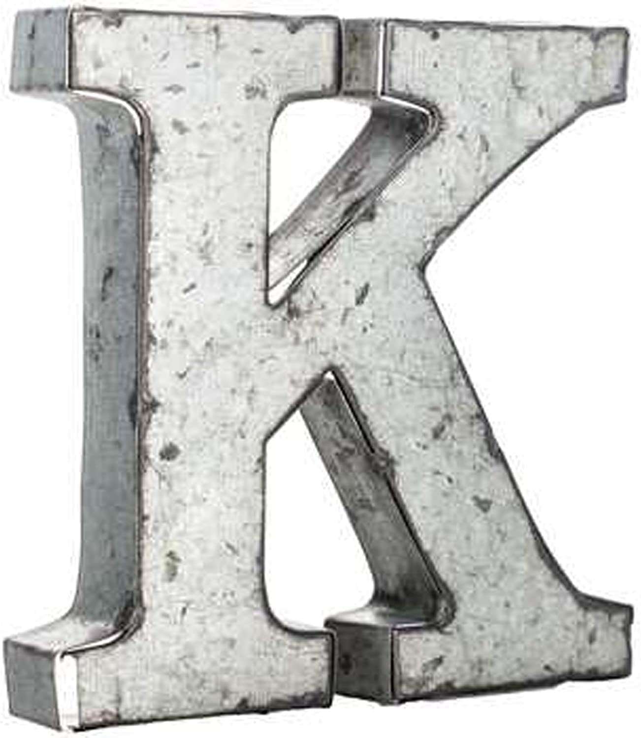 Wisechoice Decorative Alphabet Metal Wall Decor Letter K | Perfect for Home Display -Silver, 3.75 Inch L x 3.75 Inch W