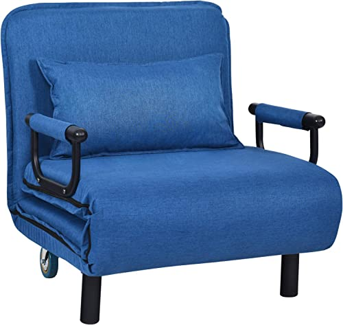 Convertible Sofa Bed Sleeper Chair on Wheel