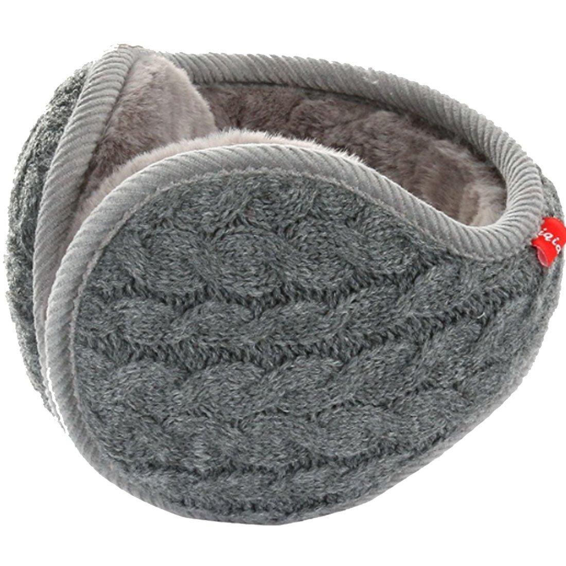 LerBen Winter Earmuff Woolen Yarn Cable Knit Wrap around Ear Muffs Ear Warmers EMU-0554