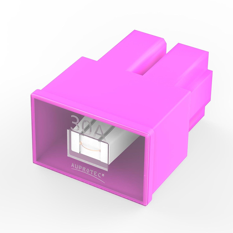 Auprotec® PAL AS Fusibles bloque hembra OTO AS japonés 20A - 60A selección: 50A Ampere rojo, 3 piezas Auprotec® AU-SI-PALAS-050