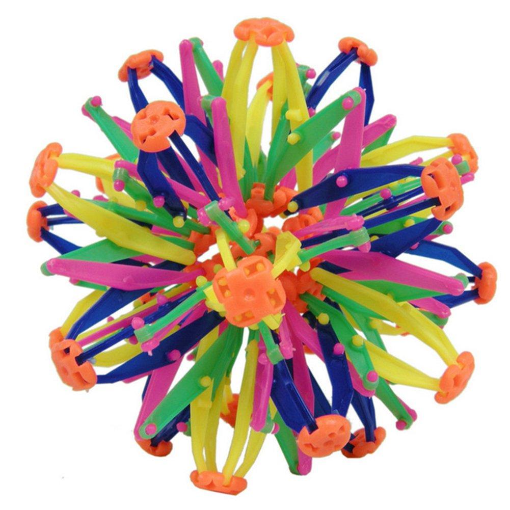 Baby-Kinderspielwaren Spaß -einziehbarer Verä nderbarer Magischer Ball-bunter Blumen-Ball Runrain