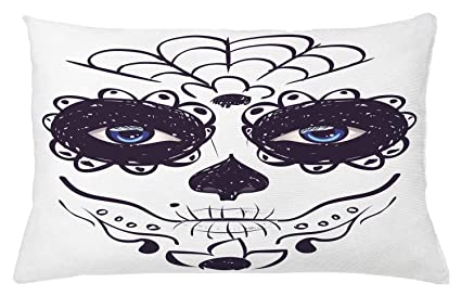 Amazon.com  Ambesonne Day of The Dead Throw Pillow Cushion Cover ... fc8960613b