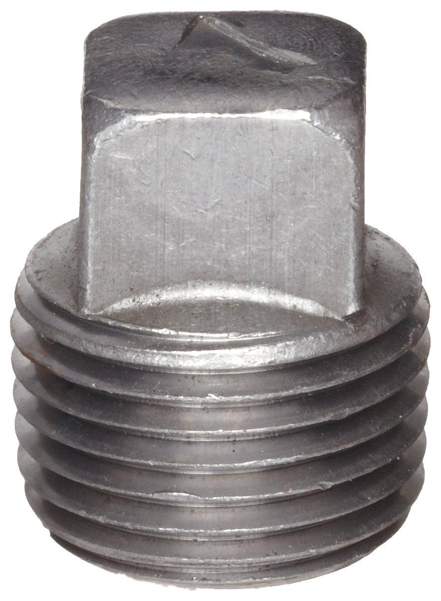 1 NPT Male Square Head Plug Black Finish Anvil 8700159356 Malleable Iron Pipe Fitting