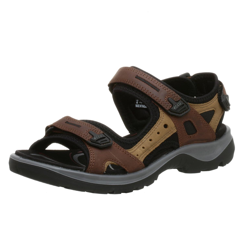 ECCO Women's Yucatan Sandal B000NIG6CA 36 EU (US Women's 5-5.5 M)|Bison/Mineral/Black