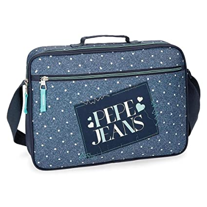 Cartera Escolar Pepe Jeans Olaia azul: Amazon.es: Equipaje