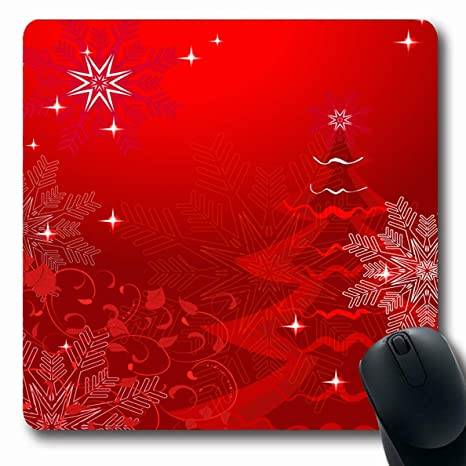 Christmas Red.Amazon Com Ahawoso Mousepad Oblong 7 9x9 8 Glowing