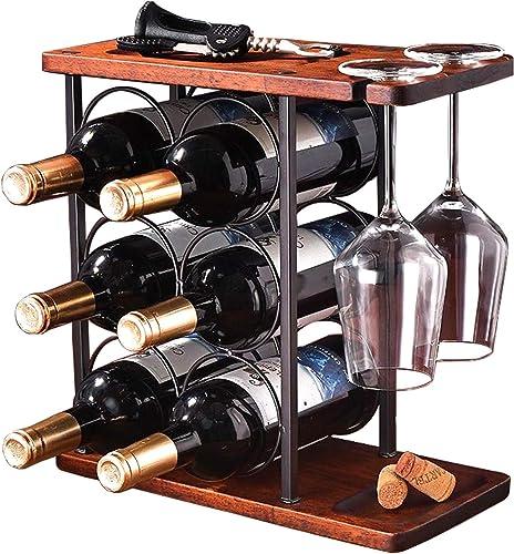 EAZZ Tabletop Wood Wine Holder