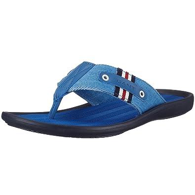 b89c632e5385d9 Gant Mens Lima Blue Canvas   Leather 45.31025 Toe Separator Sandals Blue  Size  12  Amazon.co.uk  Shoes   Bags