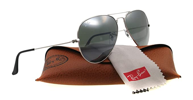 d21cbfc6e44 Ray Ban Sunglasses RB 3025 Silver W3277 RB3025  Amazon.co.uk  Clothing