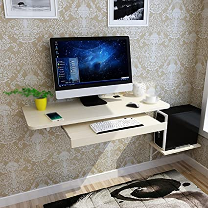 Tables MEIDUO Computer Desk Home Office Desk Small Apartment Simple  Computer Desk Creative Hanging Wall (