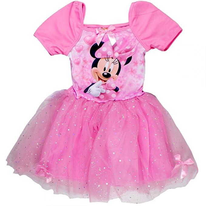 Minnie - Vestido - corte imperio - para niña Rojo fucsia