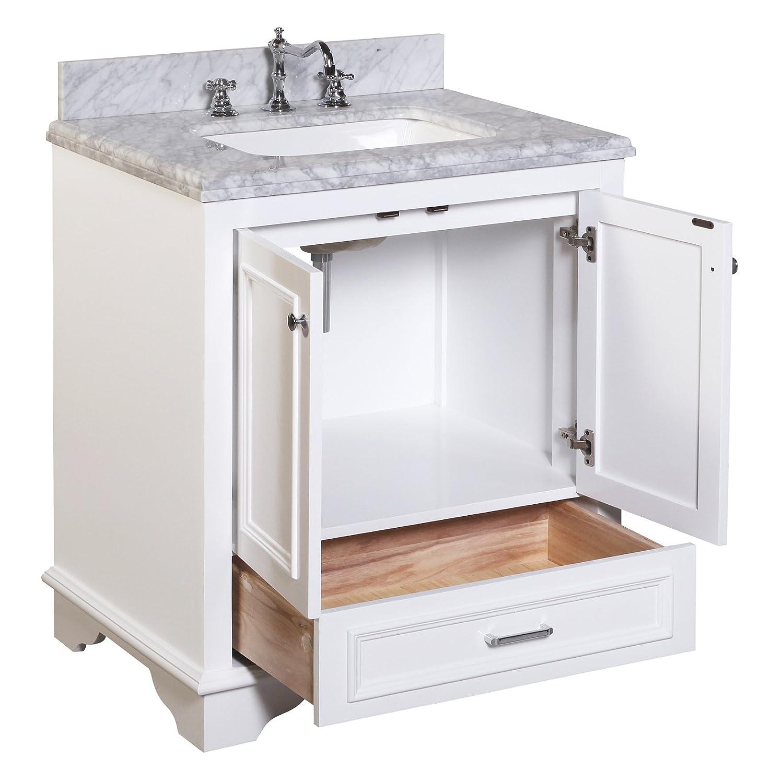 kitchen bath collection kbc1230wtcarr nantucket bathroom vanity
