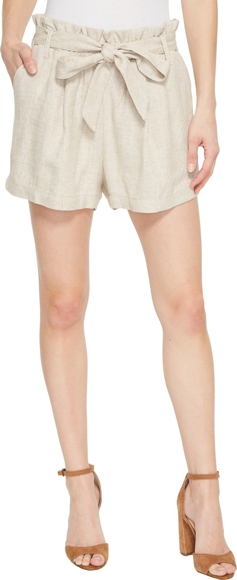 Karen Kane Women's Paperbag Waist Shorts Tan X-Large
