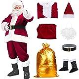 Santa Suit Christmas Santa Claus Costume for Men Women Adult Costume Santa 10 pc Outfit