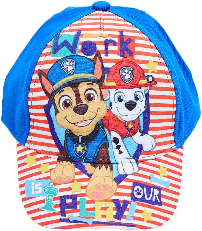 Berretto da Baseball con i Cani Chase e Marshall Il Lavoro /è Il Nostro Gioco Paw Patrol / cap per i Bambini Kappy