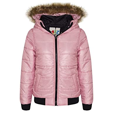 2f06eff599f2b Amazon.com  A2Z 4 Kids® Kids Boys Girls Jacket Baby Pink Maya Faux ...